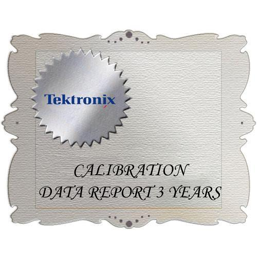 Tektronix D3 Calibration Data Report for ATG7 ATG7 D3